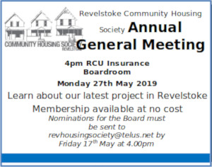 Revelstoke Community Housing AGM 2019