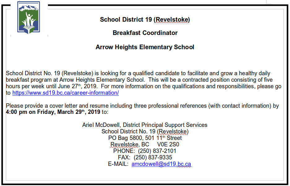 Revelstoke School District no 19